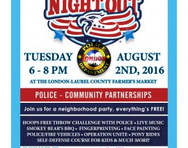 """London Police to join cities nationwide for the first time, for the 33rd Annual """"National Night Out"""""""