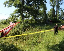 London Police Respond to Ultralight Plane Crash