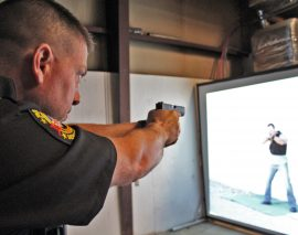 London Police train with state-of-the-art firearms training simulator