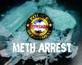 London Police arrest wanted man with methamphetamine