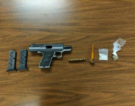 London Police arrest convicted felon found with gun and drugs