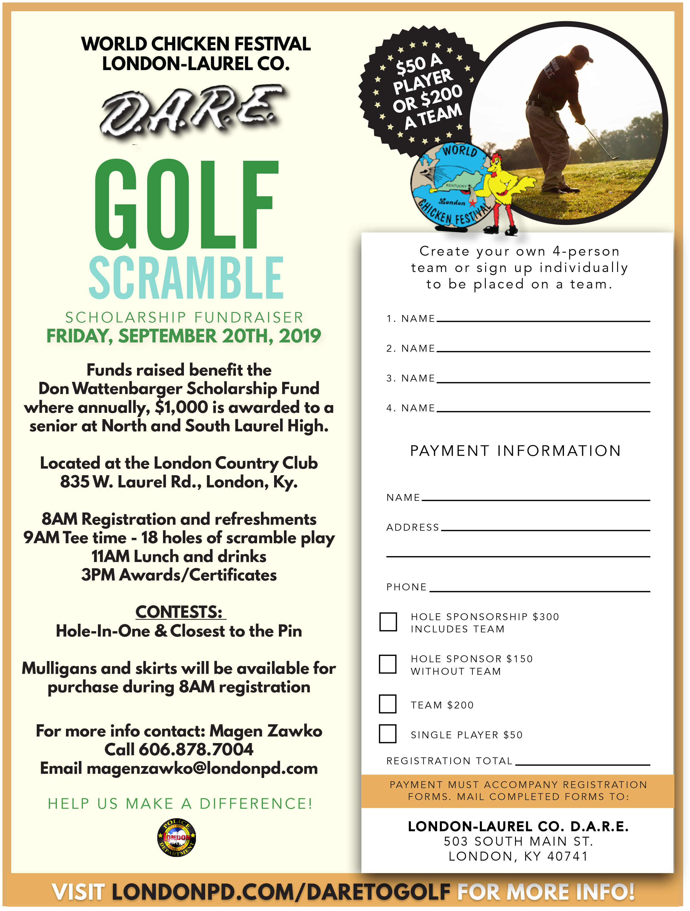 D A R E  Golf Scramble -